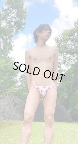 Photo1: pat219 white-pink-star neo-bikini N-surf Underwear (1)